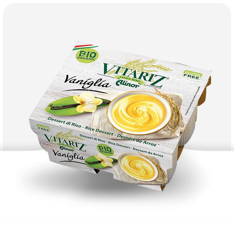 Deser ryżowy waniliowy BIO Vitariz 4x100g