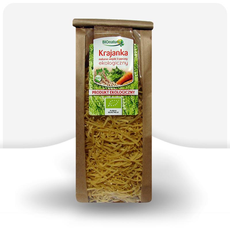 Krajanka makaron wiejski 2 jajeczny ekologiczny 250g