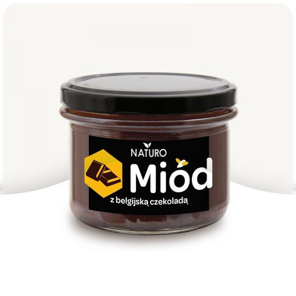 Ekologiczny miód z czekoladą 400g