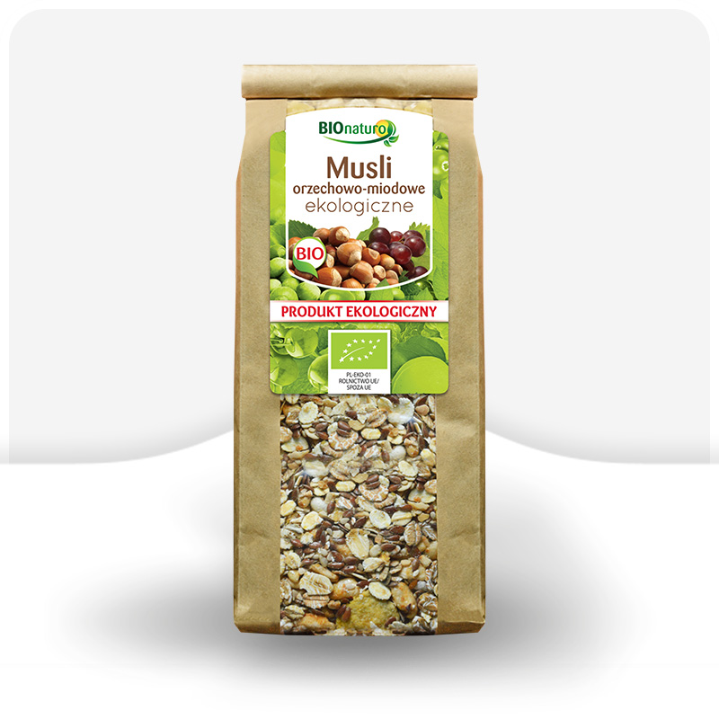 Musli orzechowo-miodowe ekologiczne 300g