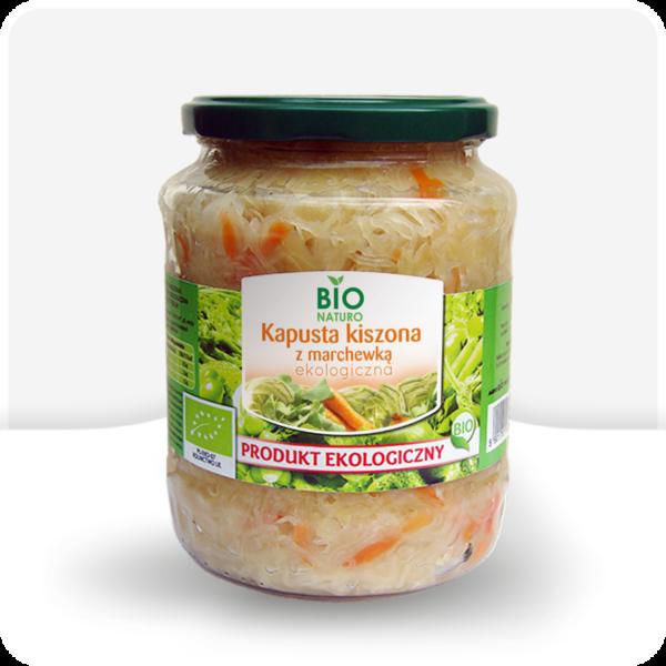 Kapusta kiszona z marchewką ekologiczna Bio Naturo