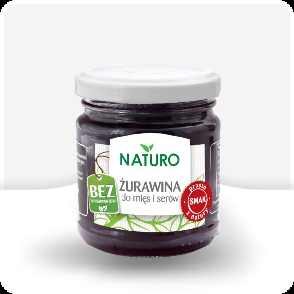 Ekologiczna żurawina do mięs i serów 220g