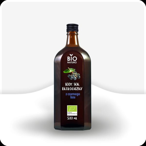 Sok ekologiczny z czarnego bzu 100% Bio Naturo