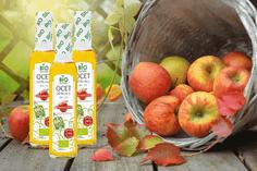 Ocet jabłkowy grafika produktowa blog mini bio naturo