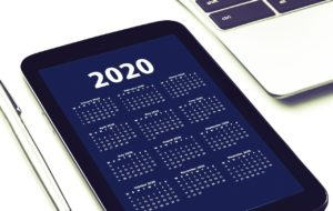 tablet z kalendarzem